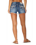 Womens Heavy Embellished Junior Fit Shorts