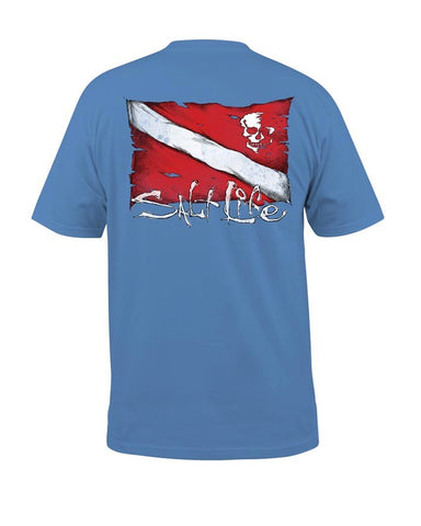 Mens Dive Flag & Skull T-Shirt