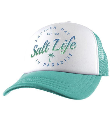 Women's Another Day In Paradise Ball Cap - Turquoise