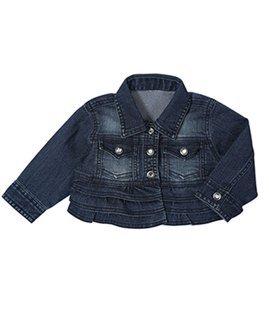 Toddler's All Around Baby Ruffle Denim Jacket