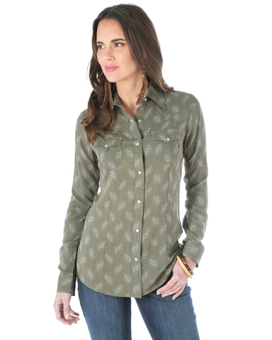 Women's One Point Long Sleeve Western Shirt