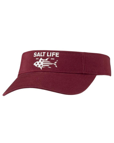 Salt Life Red White & Bluefin Visor - Cardinal