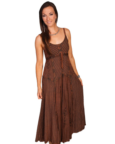 Women's Long Spaghetti Strap Dress