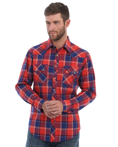 Men's Retro Long Sleeve Western Shirt