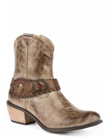 Women's Mae Taupe Burnished Shorty Boots