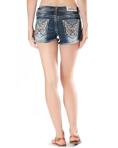 Womens Butterfly Embellished Shorts