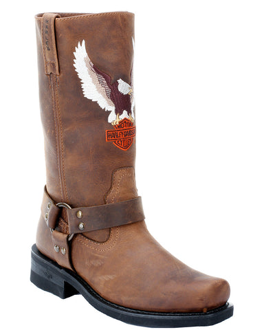 Men's Darren Eagle Harness Boots - Brown