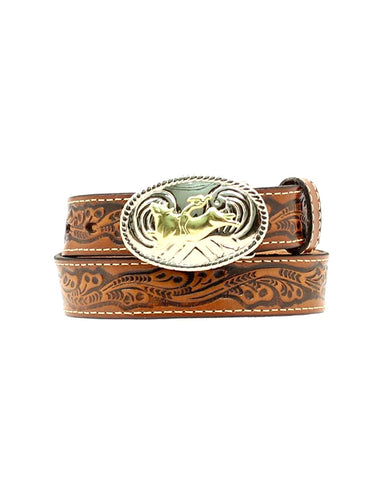 Kid's Tooled Leather Belt