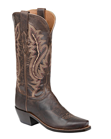 Womens Cassidy Snoot-Toe Boots - Chocolate