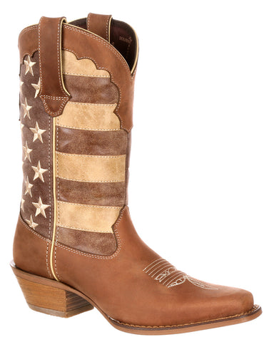 Women's Crush Distressed Flag Boots