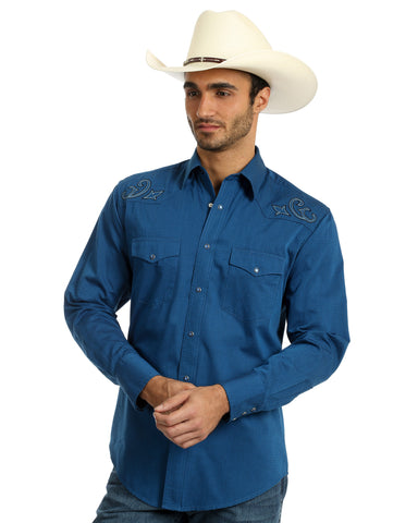 Men's Silver Edition Embroidered Western Shirt
