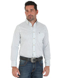 Men's Performance Long Sleeve Western Shirt - White