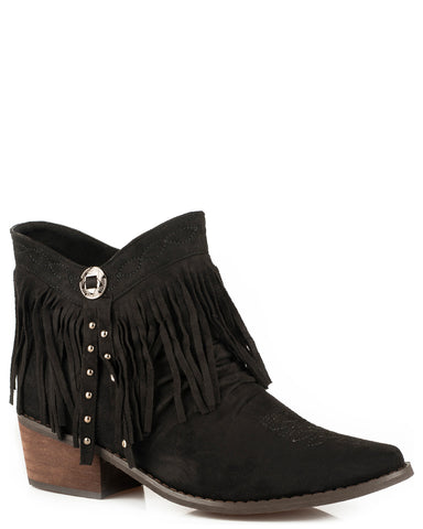 Women's Fringy Suede Shorty Boots