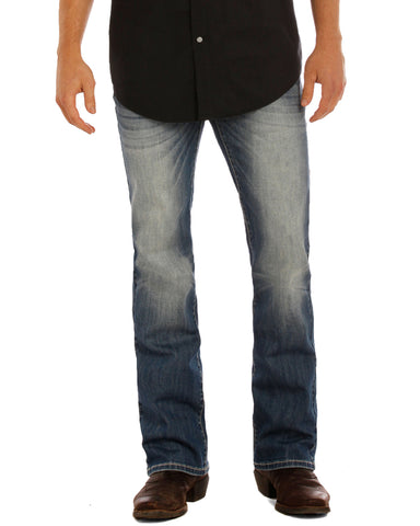 Mens Re-Flex Pistol Straight Leg Jeans