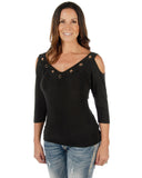 Women's Hard Core Sasha 3/4 Sleeve Blouse