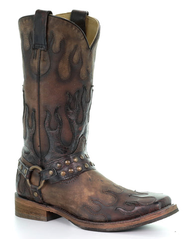 Men's Harness & Flames Boots