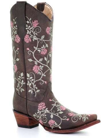 Women's Allover Floral Embroidered Boots
