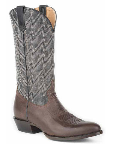 Mens Chevron Brushoff Boots - Burnished Brown