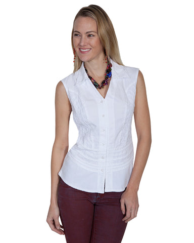 Womens Sleeveless Western Shirt