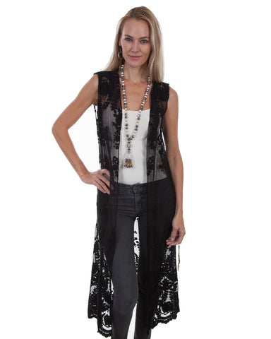 Women's Full Length Lace Duster