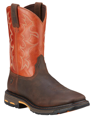 Men's Workhog Square-Toe Pull-On Boots