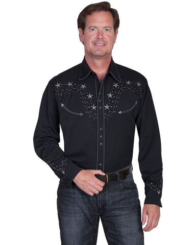 Men's Star Studded Western Shirt