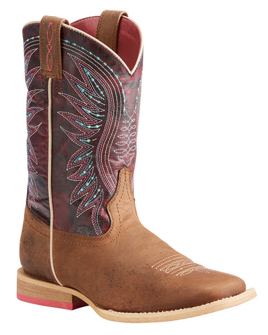 Kids Vaquera Weathered Western Boots