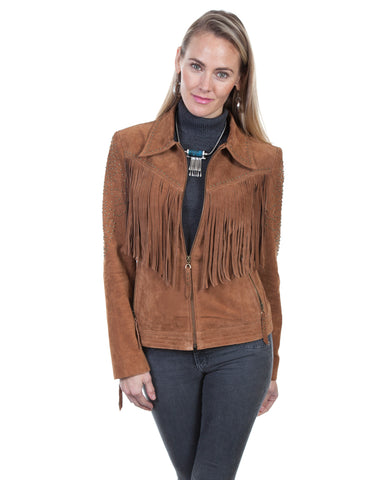 Women's Boar Suede Fringe Jacket