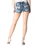 Women's Junior Fit Aztec Embroidered Shorts