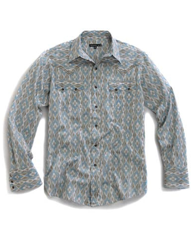 Men's Arrow Aztec Snap Up Long Sleeve Western Shirt