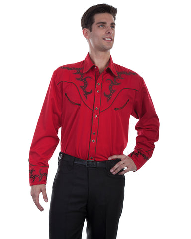Men's Boot Stitch Embroidered Western Shirt