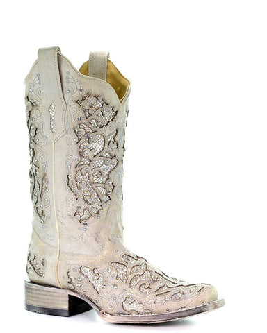 Womens Glitter Inlay Wedding Boots