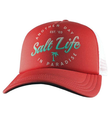 Womens Another Day In Paradise Ball Cap - Red