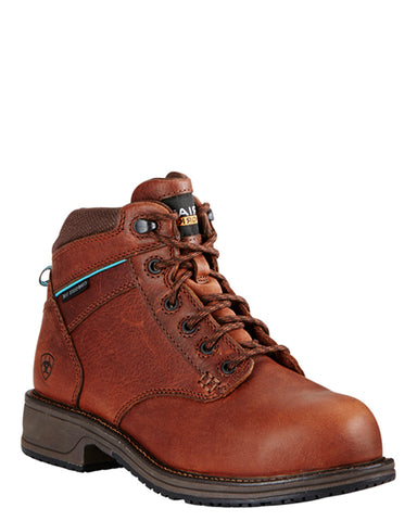 Womens Casual Work Lace-Up Boots