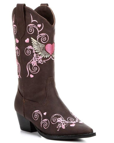 Kid's Winged Heart Boots