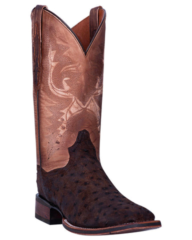 Men's Genuine Ostrich Square Toe Western Boots