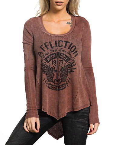 Womens Rock Tour Long Sleeve Blouse