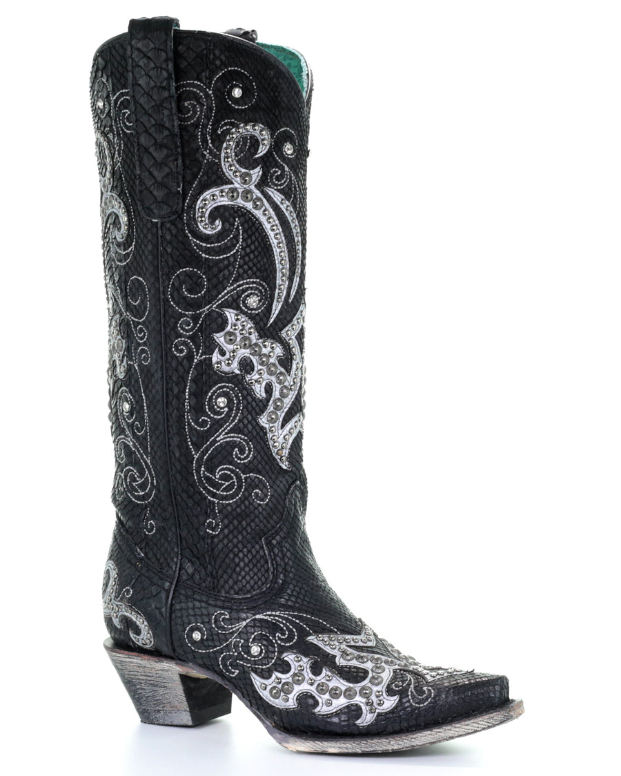 Corral Women's Embellished Python Western Boots