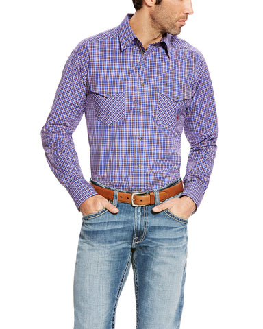 Men's Brewton Performance Long Sleeve Western Shirt