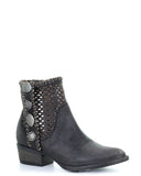 Women's Cutout Studded Ankle Boots - Black