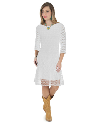 Women's 3/4 Sleeve Lace Dress