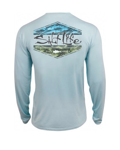 Salt Life Scheme Long Sleeve Shirt - Blue