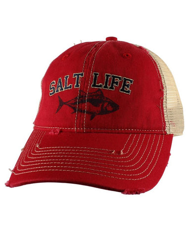 Salt Life Tuna Mesh Back Ball Cap - Red