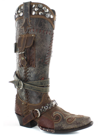 Womens Frontier Trapper Boots - Brown