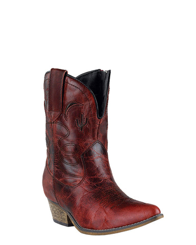Women's Adobe Rose Ankle Boots - Red