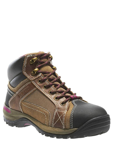 Womens Chisel Steel-Toe Lace-Up Boots