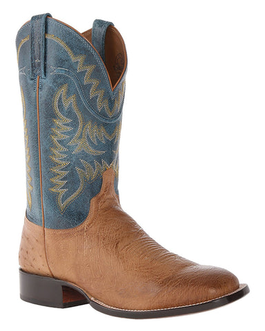 Men's Burt Smooth Ostrich Boots