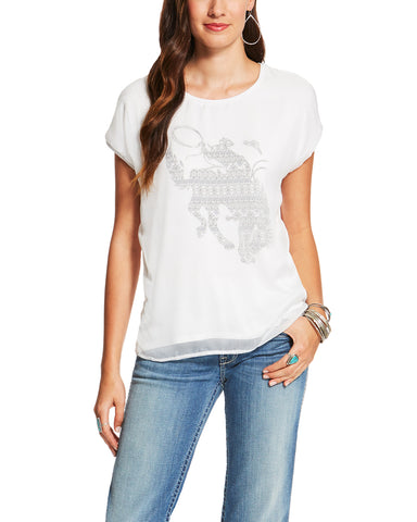 Womens Calamity Bucking Horse T-Shirt