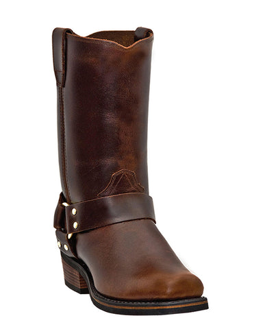 Men's Dean Harness Boots - Mahogany