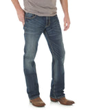 Mens Retro Stretch Slim Fit Boot Cut Jeans